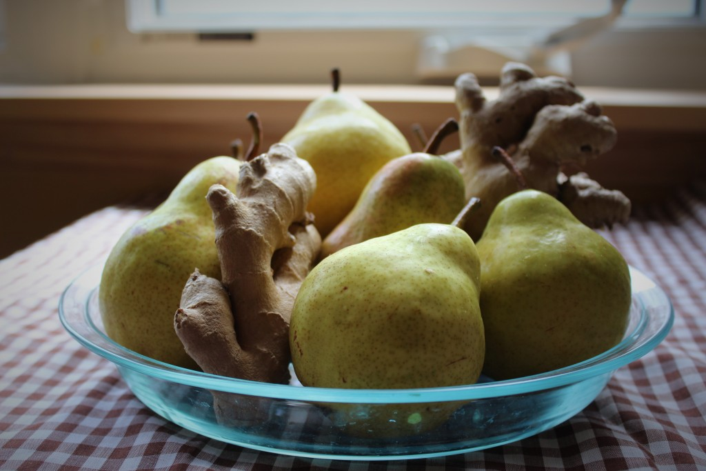 Image for titled: Pears and ginger go together like…