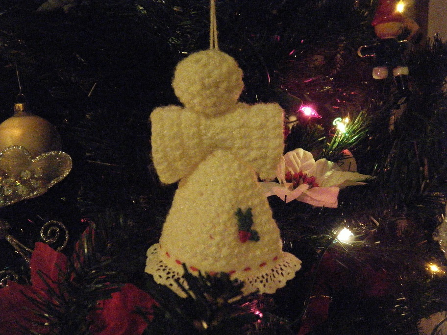 Crocheted angel.