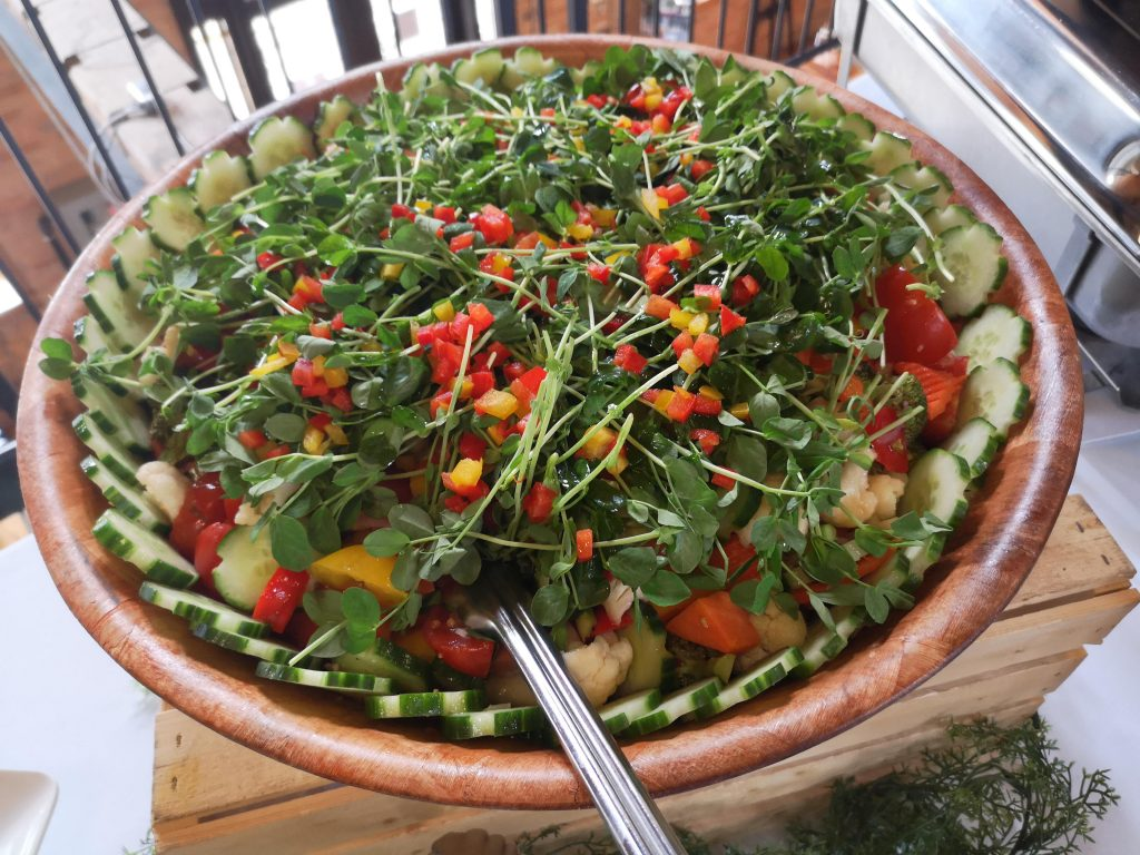 A colourful bowl of salad